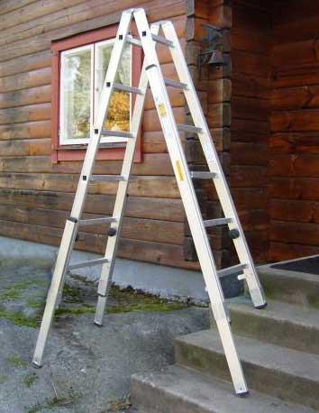 Hyra stege för trappor